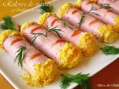 Rulouri-die-sunca-cu-branza-si-oua-2-1 Jacque Pepin, Fresh Rolls, Sushi, Appetizers, Ethnic Recipes, Appetizer, Entrees, Hors D'oeuvres, Side Dishes