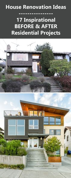 House Renovation Ideas - 17 Inspirational Before & After Residential Projects