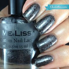 Valley of Ashes Gatsby Custom Glitter Nail by MeLissaLacquer