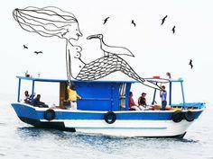 sereia do barco