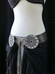 Adrornment de cinturón de danza del vientre tribal por mezuri