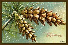 Olde America Antiques   Quilt Blocks   National Parks   Bozeman Montana : CHRISTMAS - SANTAS - Christmas Pinecones 2