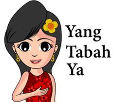 Gadis Kembang Kota by Taman Design Cartoon Jokes, Line Store, Emoji, Disney Characters, Fictional Characters, Stickers, Humor, Memes, Allah