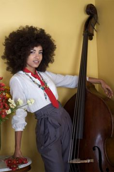 Esperanza Spalding - a great artist with a great 'fro - seen live in action at the 2012 North Sea Jazz Festival. Just fabulous!