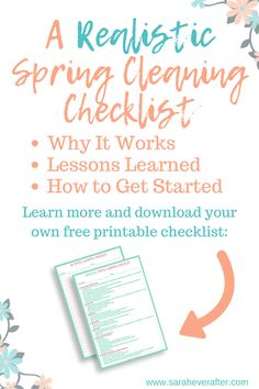 If you're not a fan of cleaning, SPRING cleaning probably isn't your favorite project. But if you work from a realistic checklist, you might be surprised at how easy it can be! Here's my experience with realistic spring cleaning, plus a free printable checklist you can download to give it a try yourself! // spring cleaning checklist // spring cleaning printable // cleaning routine