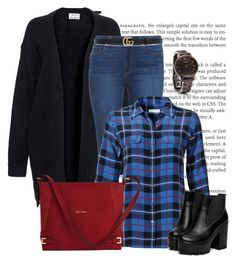 """""""xadrez"""" by ebramos ❤ liked on Polyvore featuring Acne Studios, Paige Denim, Equipment and Gucci"""
