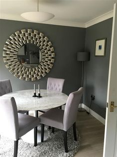 Plummet farrow and ball living room, farrow and ball paint, living room pai Small Space Living Room, Living Room Paint, Cozy Living Rooms, Home Living Room, Living Room Decor, Dining Room, Dining Area, Grey Feature Wall, Farrow And Ball Living Room