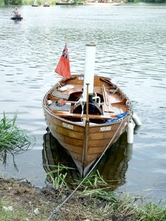 Steam boat... with coracles in the background!