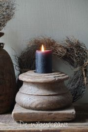 Grote oude houten poer ornament kandelaar Sober, Tea Lights, Repurposed, Upcycle, Candle Holders, Candles, Brown, House, Upcycling