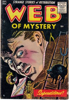 Comic Book Cover For Web of Mystery #29