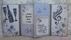 Karins-kortemakeri Vintage World Maps, Album, Card Book