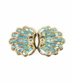 Turquoise Duette Brooch from Candy Shop Vintage... Something old and something blue!