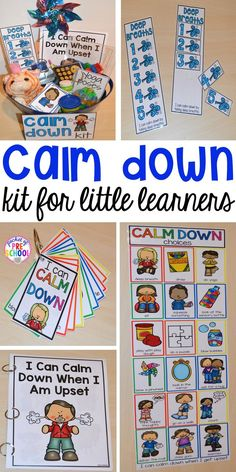 Calm Down Techniques will help you teach your students strategies to calm down when they are upset. It includes a class read aloud calm down posters calm down cards yoga cards deep breaths visual book list positive notes and more! Learning Activities, Preschool Activities, Calming Activities, Preschool Themes By Month, Preschool Classroom Centers, Circle Time Ideas For Preschool, Aba Therapy Activities, Feelings Preschool, Writing Center Preschool