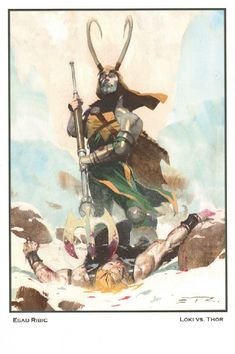 Anthony's Comic Book Art :: For Sale Artwork :: Thor Defeated by Loki Print - 2013 Signedby artist Esad Ribic