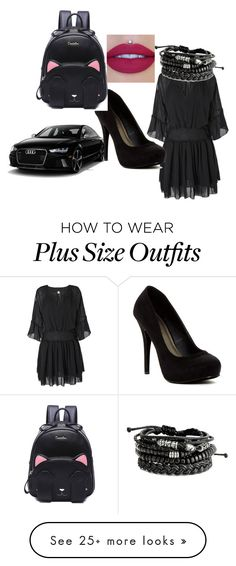 """Black style"" by annaii14 on Polyvore featuring Michael Antonio"