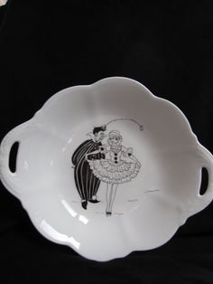 Bowl/plate bone china hand painted by TheChinaHutch on Etsy