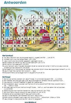 Palmpasen KRUISwoordpuzzel - antwoordenblad