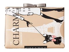 My Flat In London Charm Connoisseur Book Clutch Nude - Zappos.com Free Shipping BOTH Ways