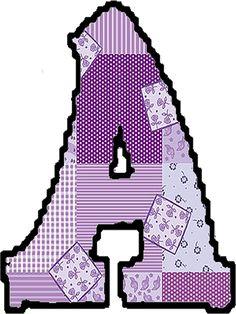 Abecedario patchwork letras - Imagui