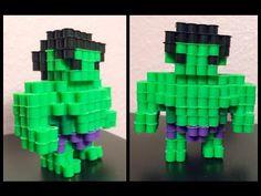 3D Perler Bead Hulk! - YouTube