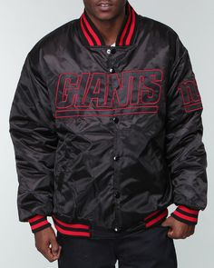 IndiaViolet Shop: Nba, Mlb, Nfl Gear Men New York Giants Custom Satin Jacket,$89.99