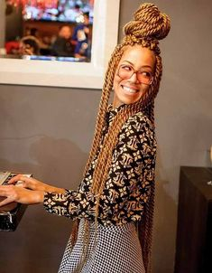 Honey blond, blond-blond, bleached blond, who knew there were so many ways to rock blond box braids and twists. Read on for a little hairspiration.