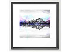 Digital download Print ,Watercolor Mountain Wall Art, Home Decor