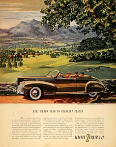 1940 Ad Lincoln-Zephyr V-12 New England Automobile - ORIGINAL ADVERTISING F4A