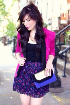 Floral skirt @Whitney Clark Clark Clark René - she looks like YOU!