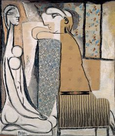 """""""Confidence,"""" by Pablo Picasso, in a version executed in tapestry in 1934"""