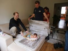 newborn photo shoot set up