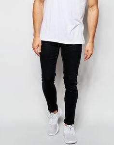 ASOS Extreme Super Skinny Jeans With Light Coating