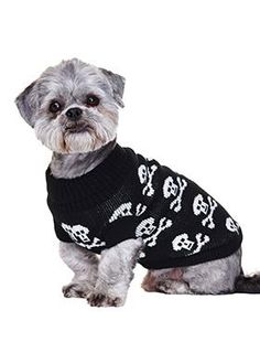 5ae7e27f450f Black Skull Sweater – The Dog Demands Skull Sweater, Dog Coats, Dog Harness,