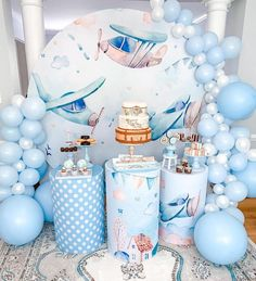 Boys 1st Birthday Party Ideas, Birthday Goals, Baby Birthday, First Birthday Parties, First Birthdays, Summer Birthday, Baby Girl Shower Themes, Baby Shower, Airplane Party
