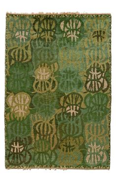 """A Swedish pile rug BB4726 - by Doris Leslie Blau.  """"Zorbus"""" rug designed by Marin Hemmingson Hoganas, woven by the MMF workshop. Provenance: with the Swedish ..."""