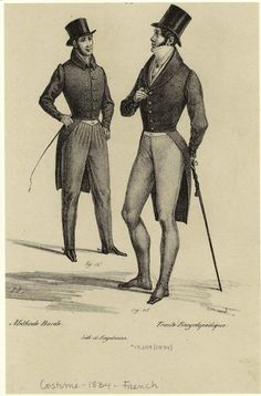 [Men wearing coats and hats, France, 1834.] Men -- Clothing & dress -- France -- 1830-1839