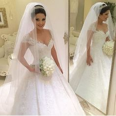 Cheap dress handmade, Buy Quality gown shoes directly from China gown ball dress Suppliers:  Sheer Prom Dress          Louisvuigon Woman Casamento V_neck Cap Sleeve Ball Gown Robe De Mariage With Beaded Plus Size