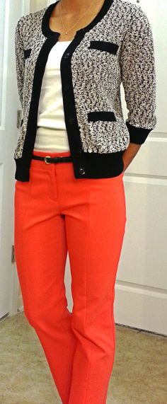 Professional Wednesday @Ann Taylor Marbled Sweater and Ankle Pants. @Target: White T.  OOTD