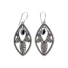 EVER FAITH® 925 Sterling Silver 1.8inch Classical Open Filigree Swirl Fishhook Earrings DxFOxyH