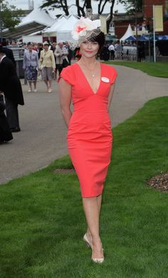 Royal Ascot Ladies Day Hats.  ***Now here's a very classy lady! Nice to see that she doesn't feel the need to have what she's wearing do alot of 'shouting' about that fact!!***