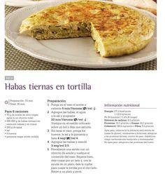 Habas tiernas en tortilla