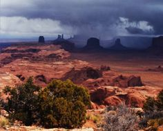 Monument Valley with clouds. Photograph by Barry Goldwater. Heard Museum, Phoenix, Arizona [RC20(A1):11]