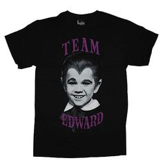 b33a33d77874e New Goth Gothic Horror Punk Team Edward Eddie Munster Photo Black Mens T  Shirt