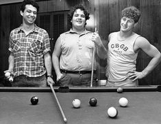 """First photograph caption dated October 28, 1983 reads, """"San Pedro's Minutemen, who will be playing locally are, from left, Mike Watt, D. Boon and George Hurley.""""  Second photograph caption dated March 9, 1984 reads, """"An eclectic sampling of music from the raw, thunderous and sweaty edge of the spectrum, played by four bands from Black Flag's SST label, including Wurm, Saccharine Trust, the Meat Puppets and the intense"""