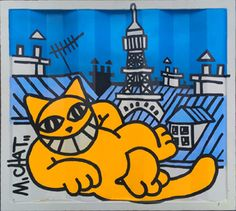 Galerie Le Container / M. Street Art, The Cheshire, Moving To Paris, Art En Ligne, Contemporary Artwork, Oeuvre D'art, Les Oeuvres, Cute Cats, Cool Pictures
