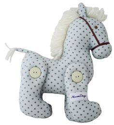 Alimrose Jointed Toy Pony  Cute jointed toy pony in choc spot print    www.alimrose.com.au