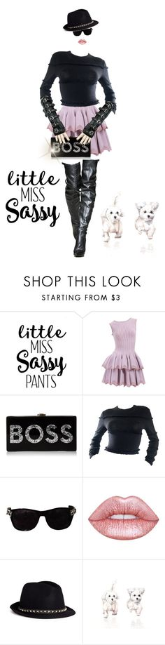 """""""meet little Miss Sassy"""" by ilikemike on Polyvore featuring Alaïa, Milly, Versace, Lime Crime and Valentino"""