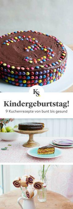 Diese #Kuchen #Rezepte schmecken nicht nur Kindern! Von #gesund bis besonders bunt findest du hier viele tolle Ideen für den nächsten #Kindergeburtstag oder eine #Familienfeier