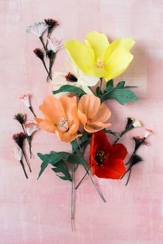 Add some pretty stamens to those florals to make a complete flower. #diy #craft