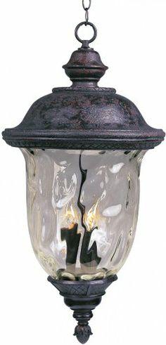 Buy it now Maxim Lighting 3427WGOB Carriage House DC 3-Light Outdoor Hanging Lantern, Oriental Bronze Finish